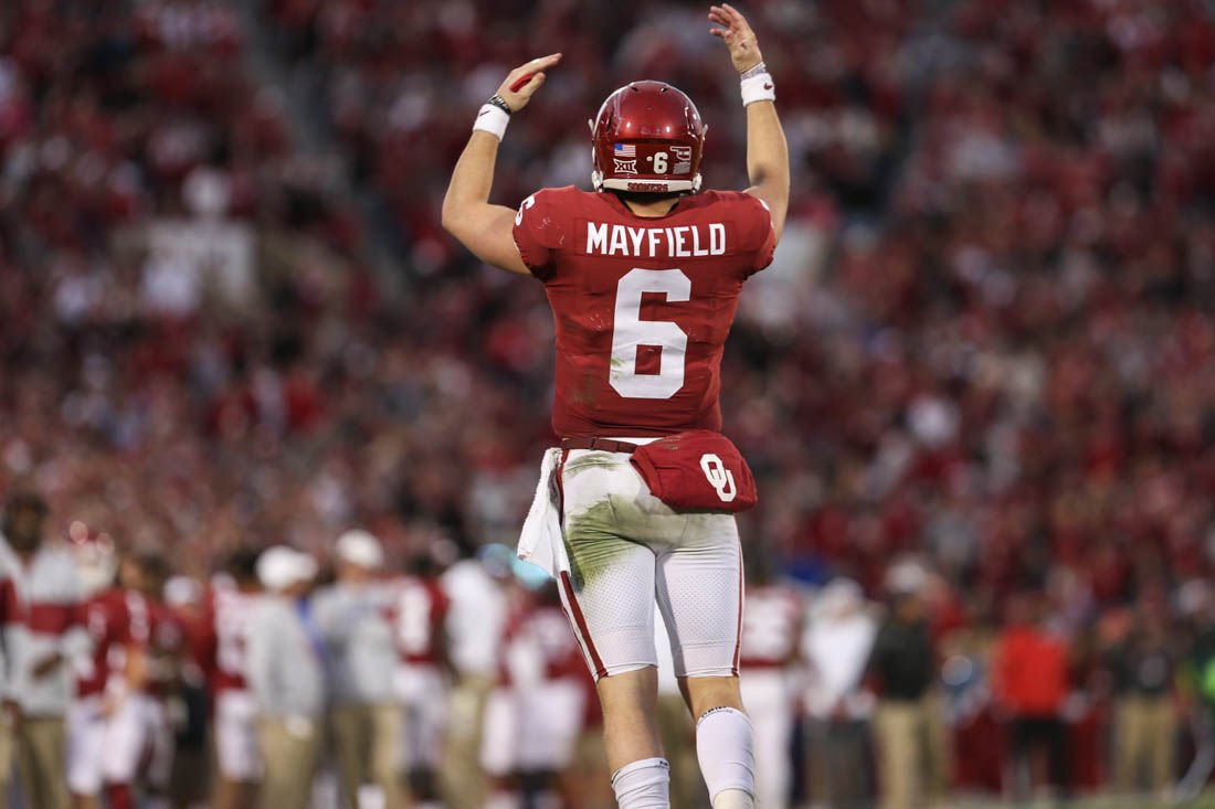 check out 429f5 71d2c Oklahoma football: Baker Mayfield shines in emotional last ...