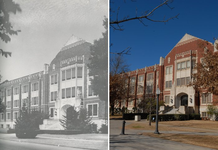 Then and now: Campus