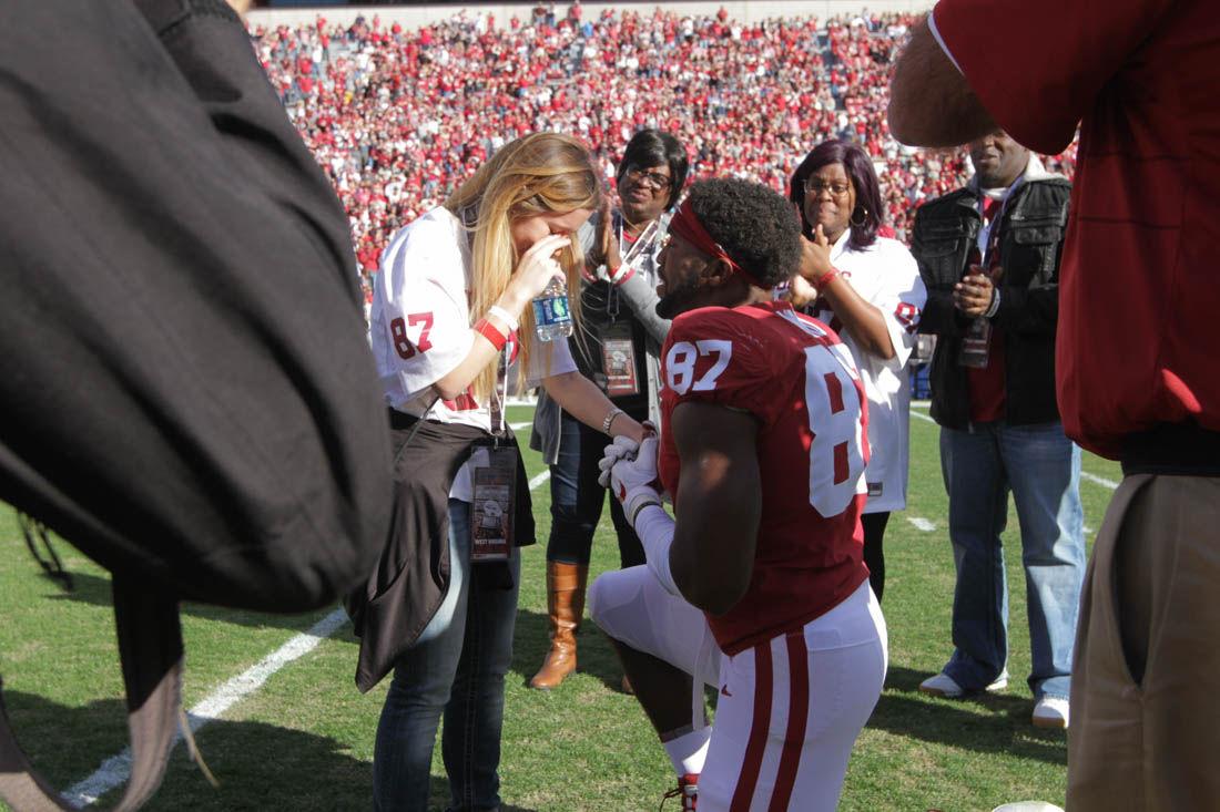 Oklahoma football: DJ Ward proposes to girlfriend before