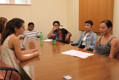 Native students meet with SGA