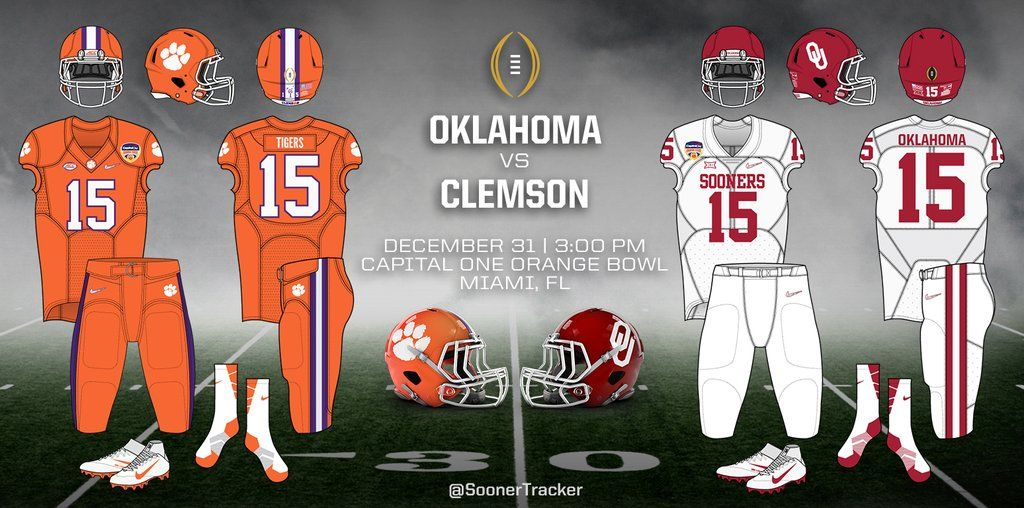 Oklahoma Football Uniform Look For Clemson And Sooners In Orange Bowl Sports Oudaily Com