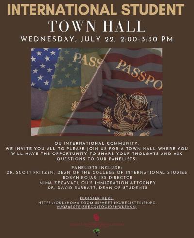 International Student Town Hall flyer