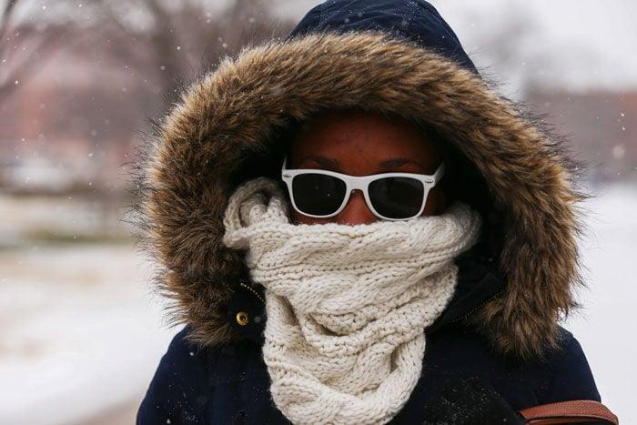 OU students brave snowstorm