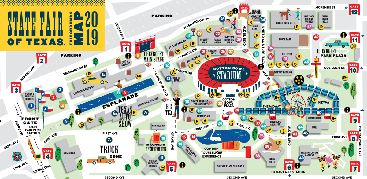 Texas State Fair map 2019