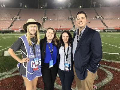 Football crew at Rose Bowl