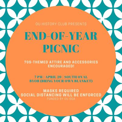 history club picnic flyer