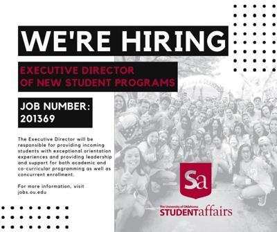 Exec. Director of New Student Programs flyer