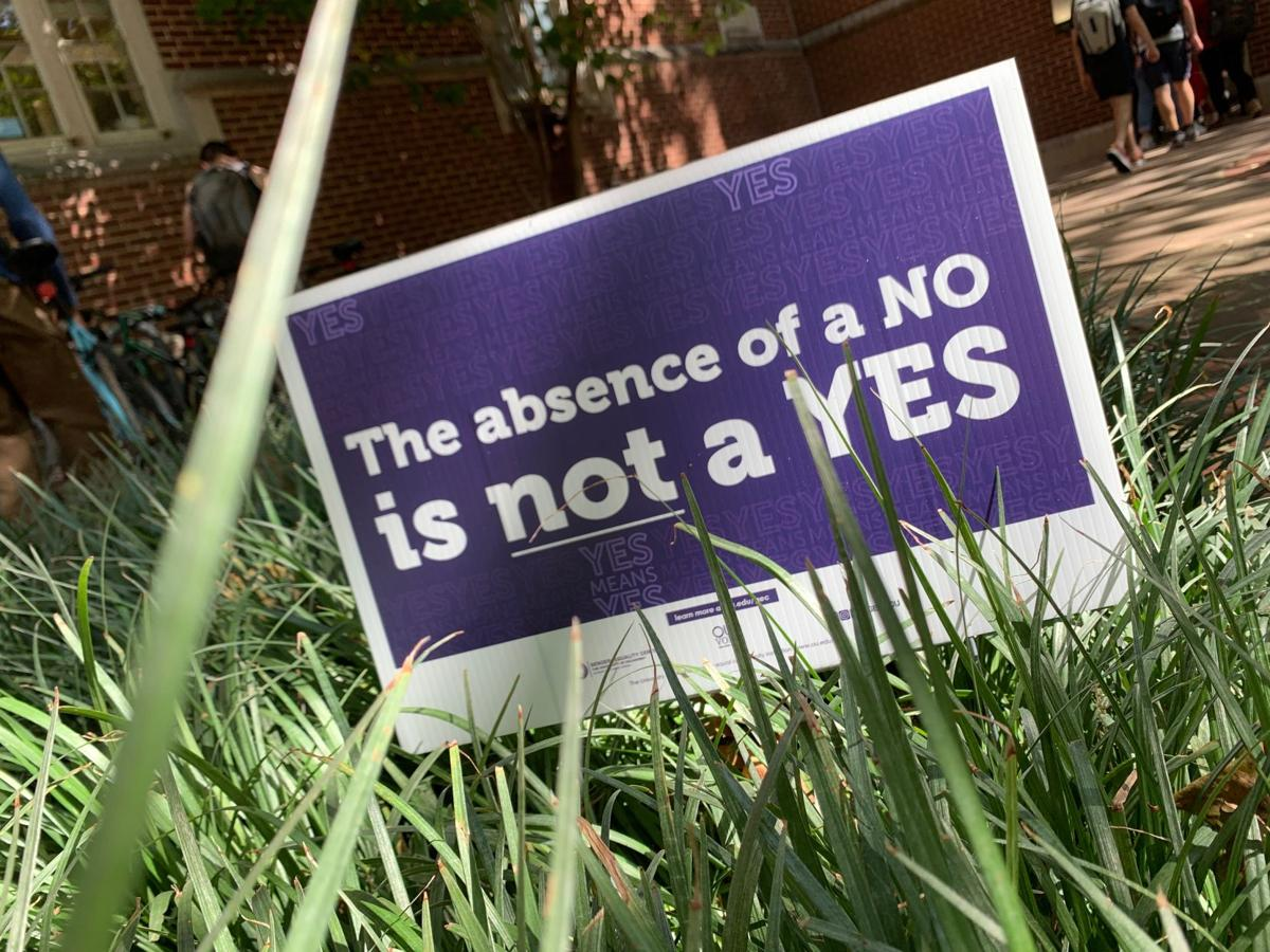 """""""yes means yes"""" campaign poster"""