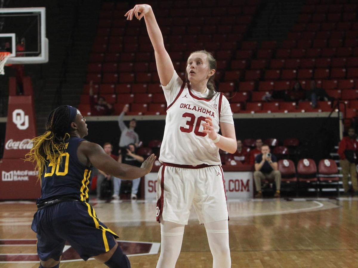 OU women's basketball: Taylor Robertson breaks school record for made 3-pointers in single season