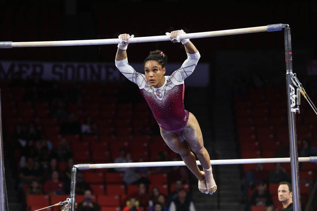 Oklahoma Gymnastics: Sooners defeat West Virginia (photos) | Gallery