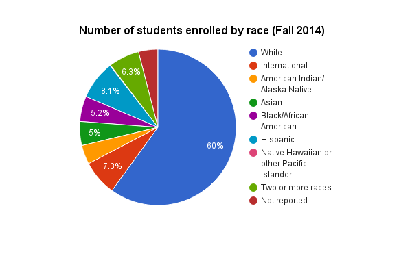 Students enrolled by race