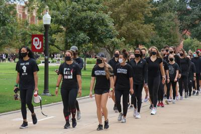 OU Athletes march