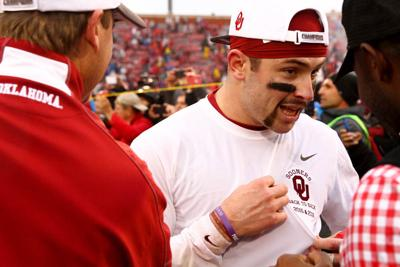 online store dd3f5 160f8 Oklahoma football: Baker Mayfield wears updated 'back-to ...