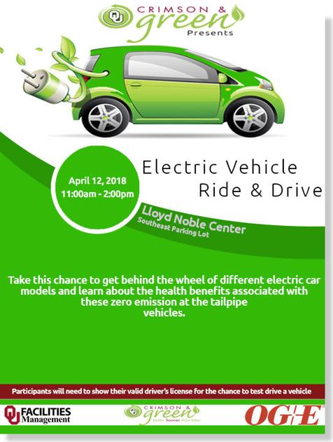 Ou Earth Month Event Provides Electric Cars For Students Faculty To Test Drive News Oudaily