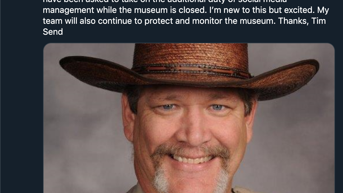 Oklahoma City museum security guard gains internet fame with social media takeover