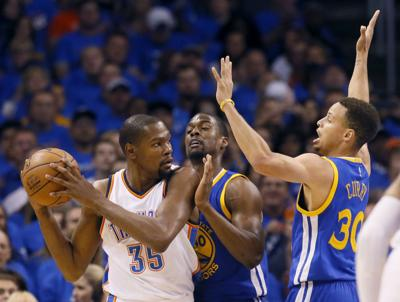 7506e53eb2a Oklahoma City Thunder  Reaction to Kevin Durant signing with Golden ...