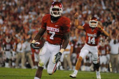 DeMarco Murray with the Sooners
