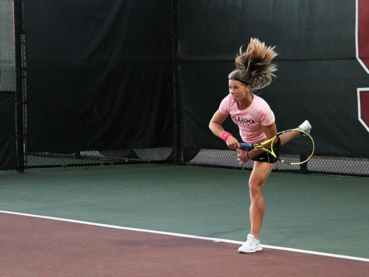 OU women's tennis: Sooners sweep Oral Roberts, 7-0, in home opener