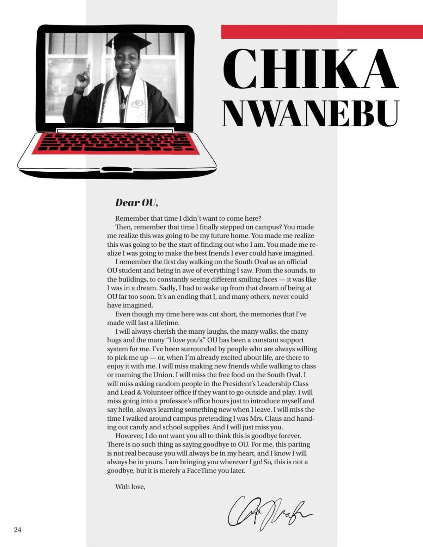 Chika Nwanebu Senior Letter