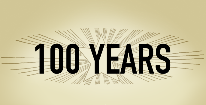 CQ 100 years centennial logo