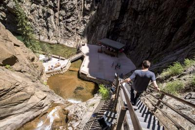 Find this secluded restaurant at the base of a 181-foot waterfall in Colorado