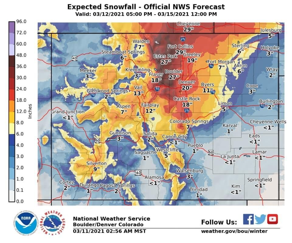 Map Courtesy: National Weather Service.