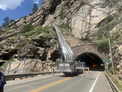 Golden Fire Department Rescue, Clear Creek Canyon (Photo) Courtesy Colorado State Patrol via Twitter