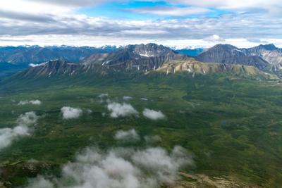 Beautiful aerial view of the vast wilderness and mountains of Wrangell St Elias National Park in Alaska. Photo Credit: Melissa Kopka (iStock).