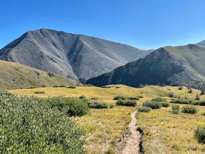 San Luis Peak can be seen on the left of this photo. Photo Credit: Spencer McKee