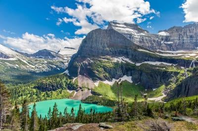 Grinnell Lake at Glacier National Park. Photo Credit: AZCat (iStock).