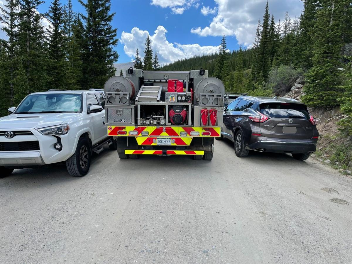 Illegal Parking at Quandary Peak Trail (Photo) Courtesy Red, White & Blue Fire Protection District