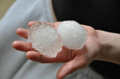 This photo shows hail that is approximately 2-3 inches in size. Photo Credit: bobosh_t (Flickr).