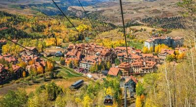 Autumn in Telluride Colorado - Gondola Photo Credit: Craig Zerbe (iStock).