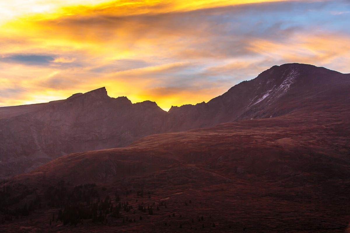 Colors Explode as the Sun Rises Behind Mount Bierstadt Photo Credit: CharlesWhiting (iStock).