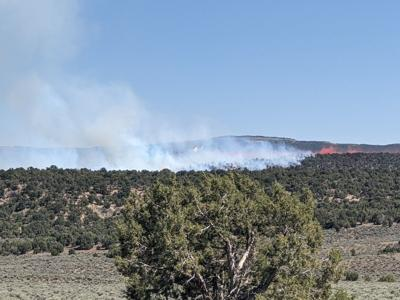 The Dragon Fire near Rangely. Photo Credit: Rio Blanco County Sheriff's Office.