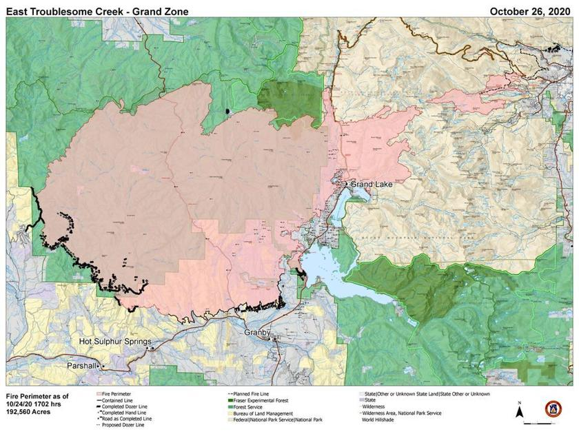 As East Troublesome Fire approaches 200,000 acres, growth slowed by snow  OutThere Colorado