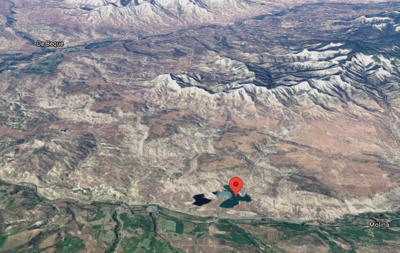 Jerry Creek Reservoir #1 can be seen pinned on this map. Castle Peak can be seen directly above it. Map Credit: @2021 Google Maps.