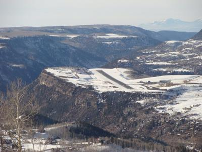 Telluride Regional Airport from above. Photo Credit: iagoarchangel (Flickr)