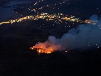This image, provided by the US Forest Service, shows the close proximity of the Ptarmigan Fire to the Silverthorne area.