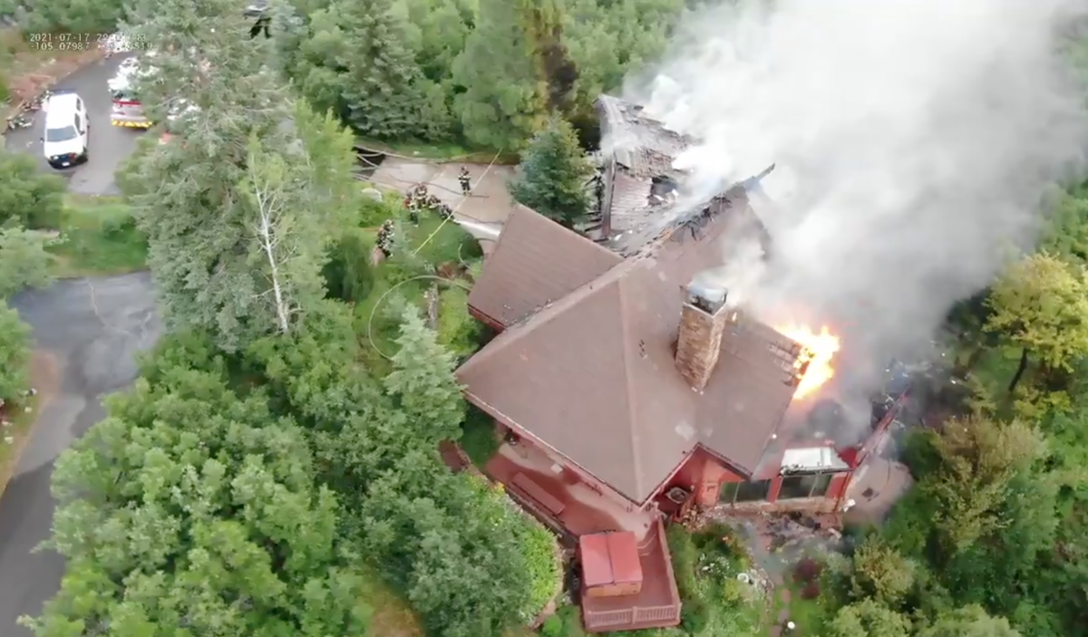 Drone footage. Courtesy of West Metro Fire.
