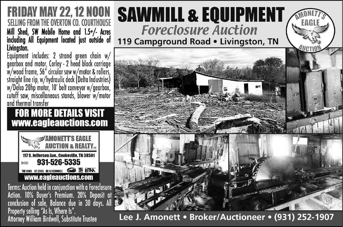 Amonett's Sawmill & Equipment Foreclosure Auction