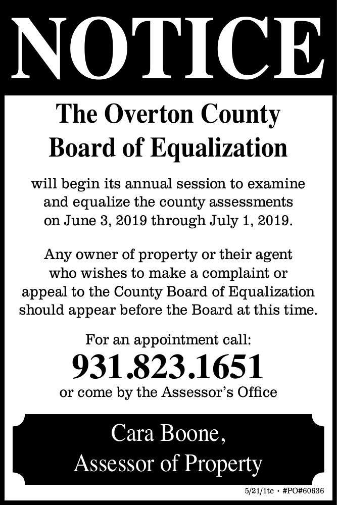 Overton County Board Of Equalization