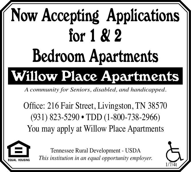 Now Accepting Applications Willow Place Apartments