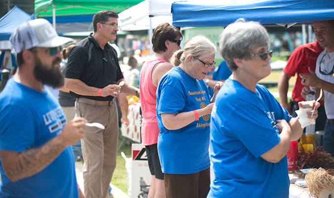 Hundreds sample entries at recent Chili Cookoff