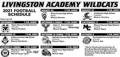 Livingston Academy Wildcats Schedule
