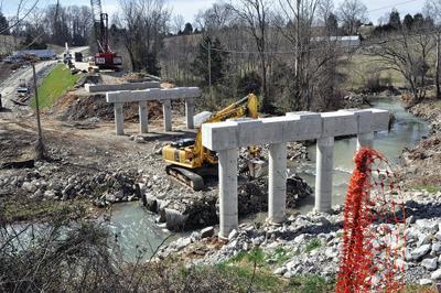 Progress continues on Carr Creek bridge