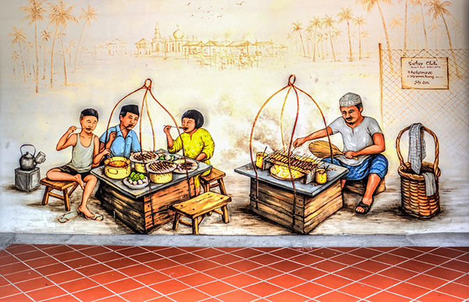 Photographing heritage murals in Singapore