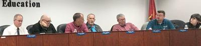 """School Board holds monthly meeting; work session talks more of """"other option"""""""
