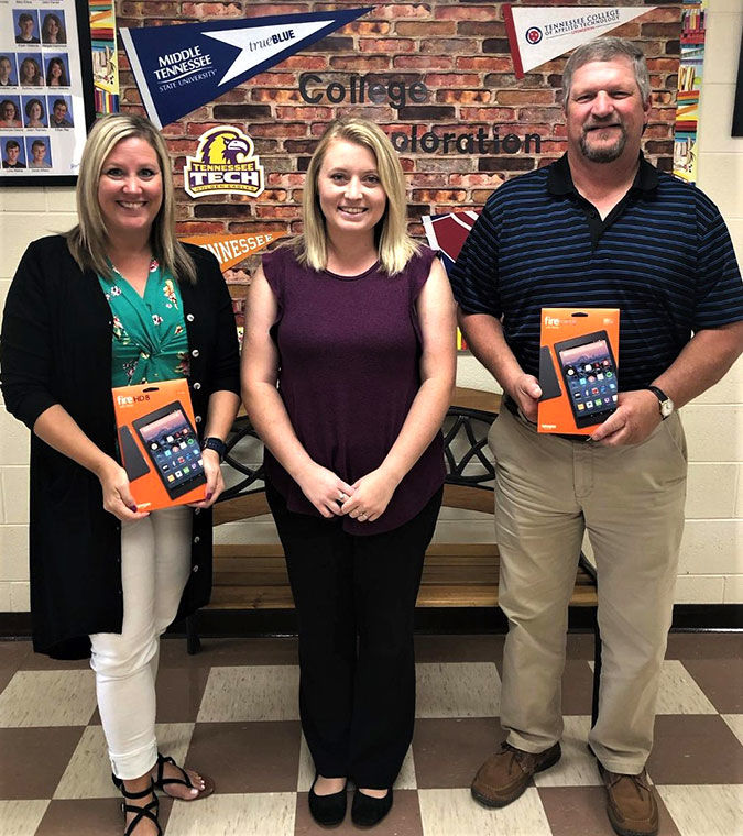 Twin Lakes donates tablets to schools, public library