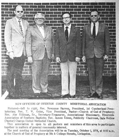 45 years ago in Overton County News September 12, 1974